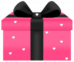 Transparent Pink Gift with Hearts Decorn PNG Picture | Gallery ...