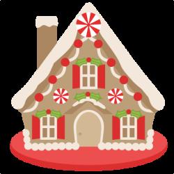 Gingerbread House scrapbook clip art christmas cut outs for cricut ...