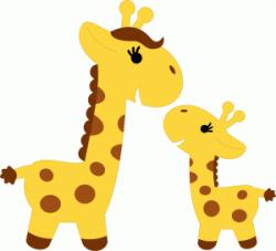 Silhouette Design Store - View Design #61132: cute giraffe ...
