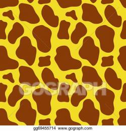 Vector Art - Seamless giraffe skin texture. EPS clipart ...
