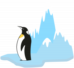 Penguin on Glacier Transparent PNG Clip Art Image | Gallery ...