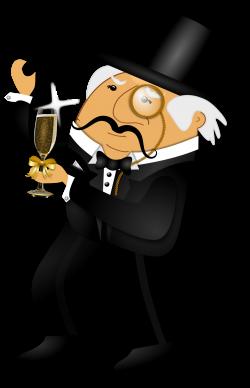 Clipart - Distinguished Gentleman Dancing