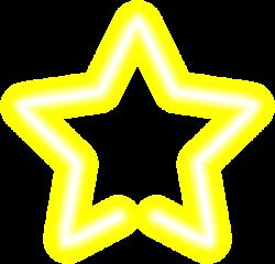 Neon Star Yellow Clip Art PNG Image | decoupage mix pic | Pinterest ...