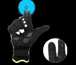 Men's Thermal Touch Screen Full Finger Cycling Gloves | Longshell.com