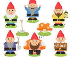 Gnome clipart | Etsy