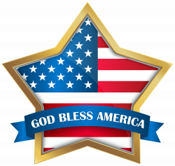 God Bless America Star PNG Clip Art Image | Gallery Yopriceville ...
