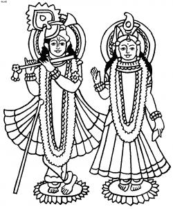 Goddess Lakshmi Coloring Page, Radha and Krishna Coloring Page ...