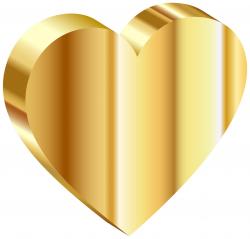 3D Heart Of Gold Clipart - Design Droide