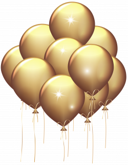 Gold balloons clipart transparent background png - techFlourish ...