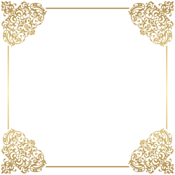 Gold Border Frame Deco PNG Clip Art   Gallery Yopriceville - High ...