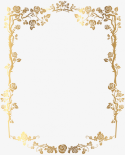 Material Gold Border, Golden, Frame, Border PNG Image and ...