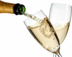 Champagne PNG images, Champagne bottle glass png