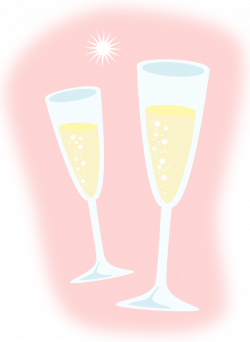 champagne glass clipart - HubPicture