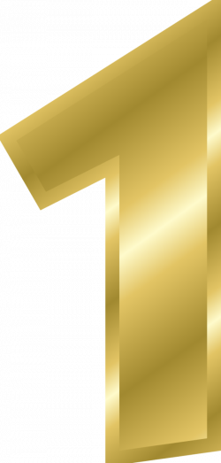 Gold Number 1 Clipart - Clip Art Bay