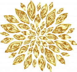 Clipart - Gold Flower Petals Variation 2
