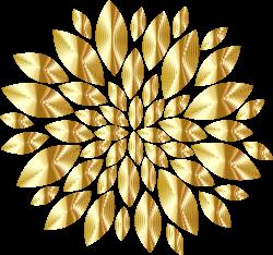 Clipart - Gold Flower Petals