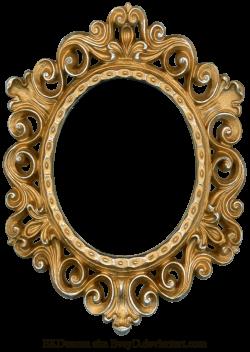 Vintage Gold and Silver Frame - Oval by ~EveyD on deviantART | LASER ...