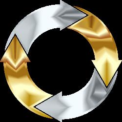 Clipart - Gold And Silver Circular Arrows