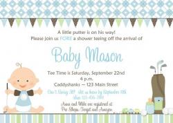 Golf Baby Shower Invitation -- Golf baby -- boy baby shower ...
