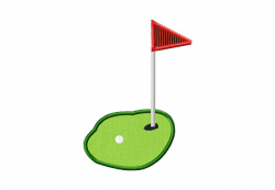 Golf Green Machine Embroidery Includes Both Applique and Fill Stitch