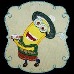 Cleo Golfer | Minion Applique | Pinterest | Disney applique ...