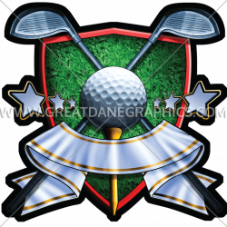 Golf Crest | Production Ready Artwork for T-Shirt Printing