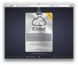 Apple posts new iCloud login page as a revamped MobileMe, iWork.com