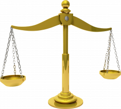Clipart - Brass Scales Of Justice