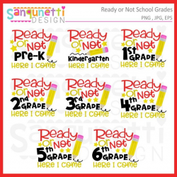 Ready or Not School Grades clipart, school clipart, back to school, grades  clipart, school lettering, instant download