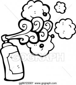 EPS Illustration - Cartoon graffiti spray can. Vector Clipart ...