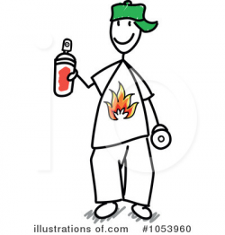 Graffiti Clipart #1053960 - Illustration by Frog974