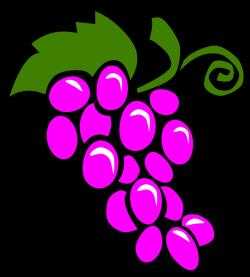Clipart - Simple Fruit Grapes