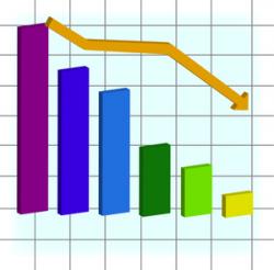 Graph Decline Clipart