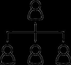 Network Organization Chart Ranking Management Diagram Structure Svg ...