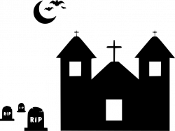 Graveyard Grave Haunted Home House Mansion Scary Spooky Svg Png Icon ...