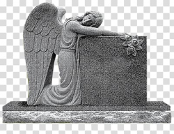 Headstone Angel of Grief Memorial Monument Cemetery ...