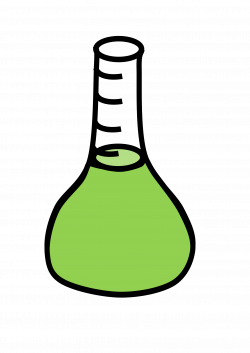 Clipart - Erlenmeyer flask with green liquid