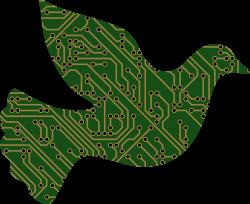 Clipart - Cyber Peace Dove II