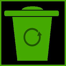 Green Trash Icon Clip Art at Clker.com - vector clip art online ...