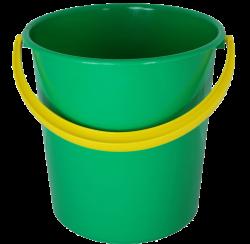 Plastic green bucket PNG image