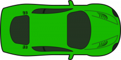 Clipart - Green Racing Car (Top View)