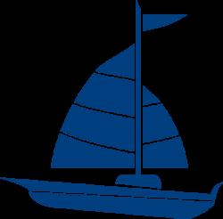 Navy Blue Sailboat Clipart