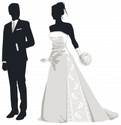 Bride and Groom Silhouettes PNG Clip Art - Best WEB Clipart