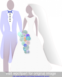 Bride and Groom Silhouette Clip Art | Bride and Groom simple ...