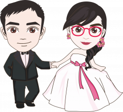 Marriage Wedding Cartoon - Cartoon bride and groom 1307*1196 ...
