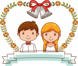 Wedding invitation Marriage Bride Illustration - Sweet wedding ...
