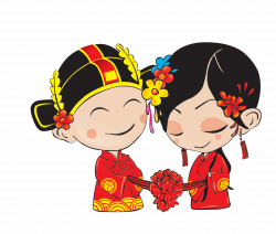 Chinese marriage Download - Cartoon bride and groom 2130*1813 ...