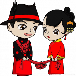 Bridegroom Chinese marriage Cartoon - Bride and groom 1018*1024 ...