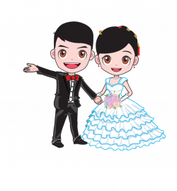 Cartoon Wedding Marriage Bridegroom - Cartoon bride and groom 1841 ...