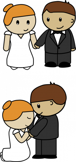 Clipart - Bride and Groom